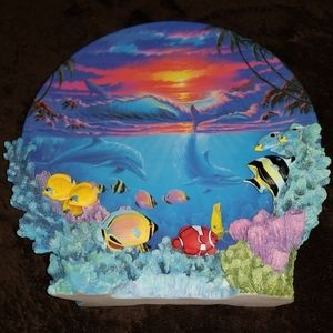 "1996 Colors of the Sea ""Sealife at Sunset"" Plate"